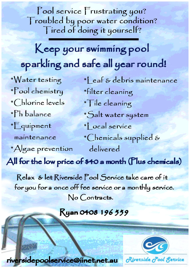 Swimming Pool Service Flyer Design : Flyer for swimming pool service business design