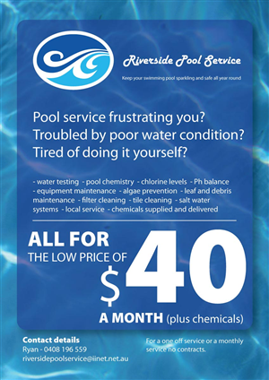 30 Serious Flyer Designs Pool Service Flyer Design Project for a