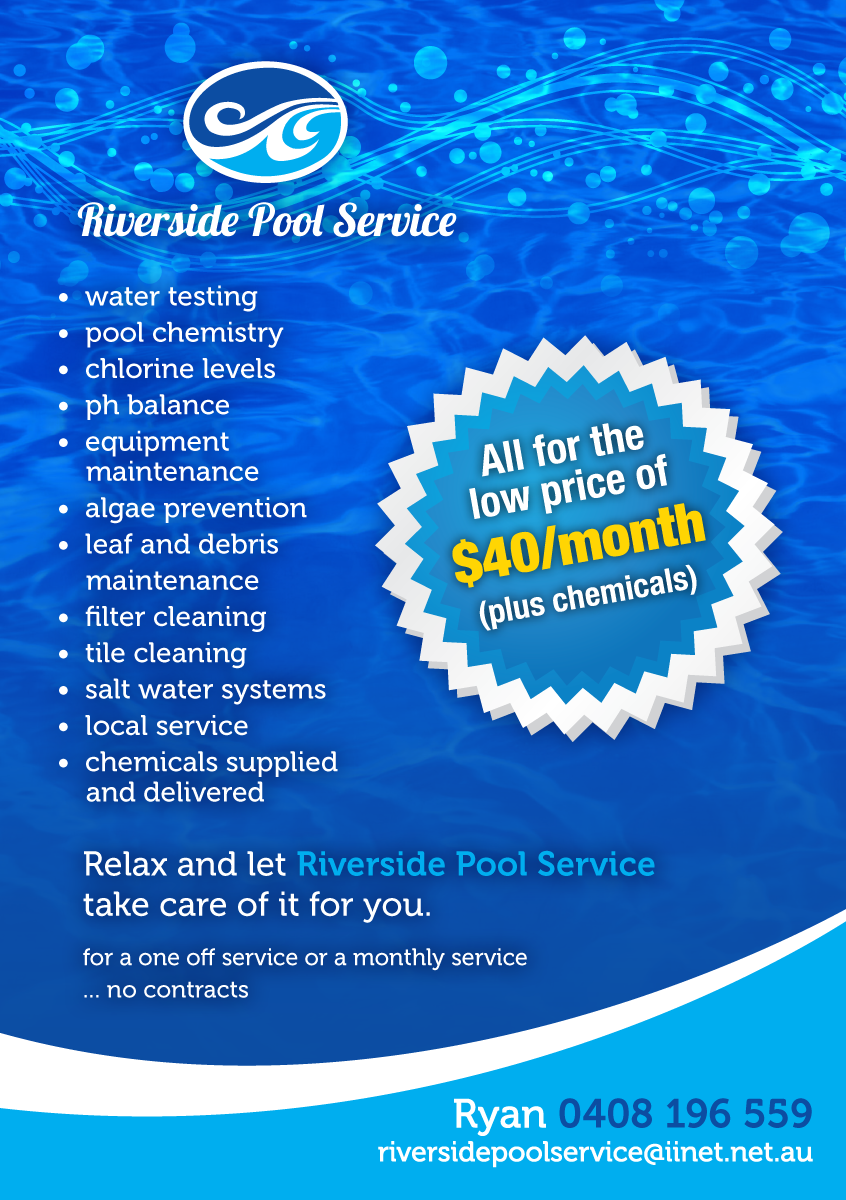 Serious modern pool service flyer design for a company for Pool service