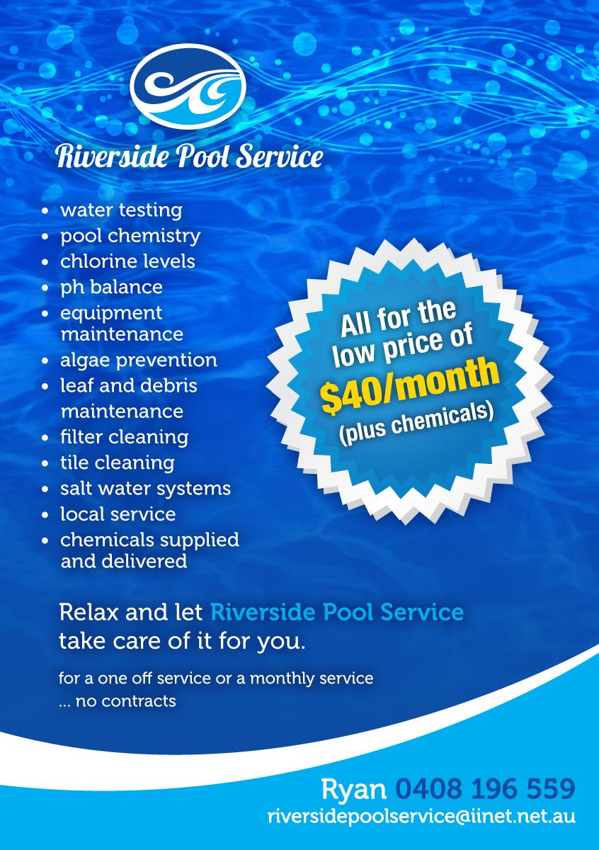 Pool Maintenance Service : Serious modern flyer design for ryan murray a