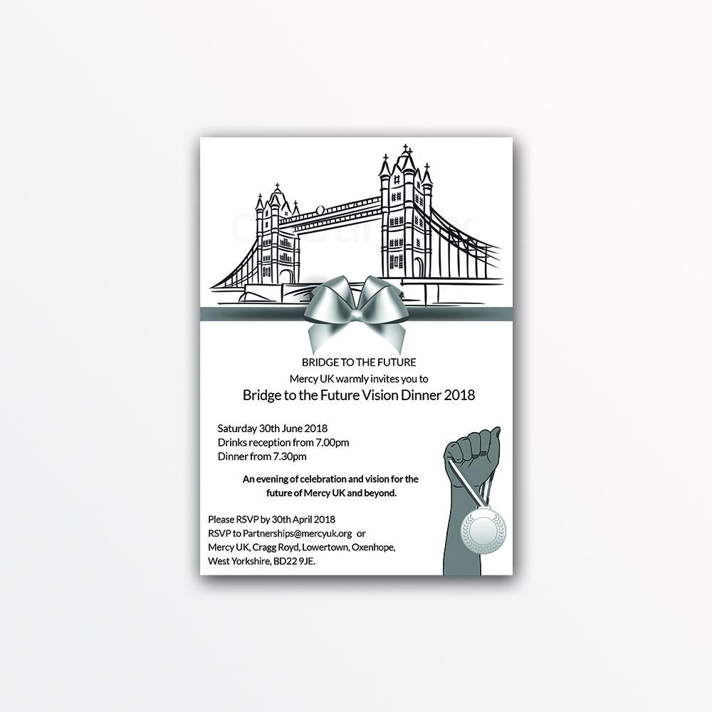 Modern upmarket charity invitation design for mercy uk by spydaman invitation design by spydaman for mercy uk design 17985915 stopboris Gallery