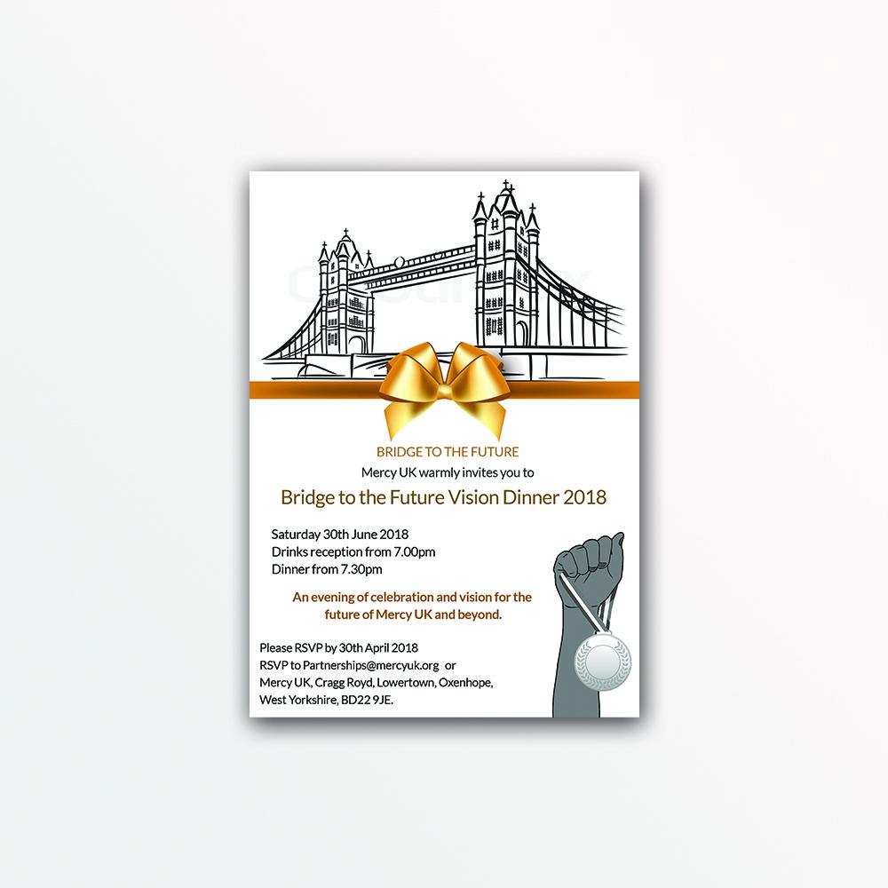Modern upmarket charity invitation design for mercy uk by spydaman invitation design by spydaman for mercy uk design 17985920 stopboris Image collections