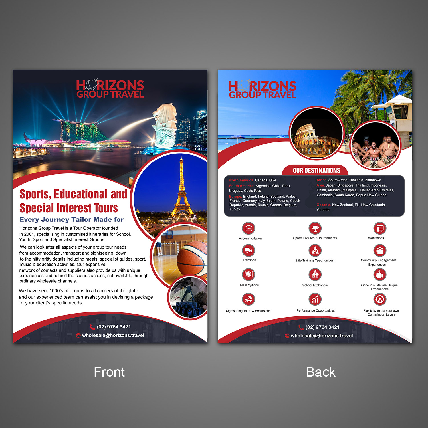 Bold, Modern, Travel Agent Flyer Design for a Company by