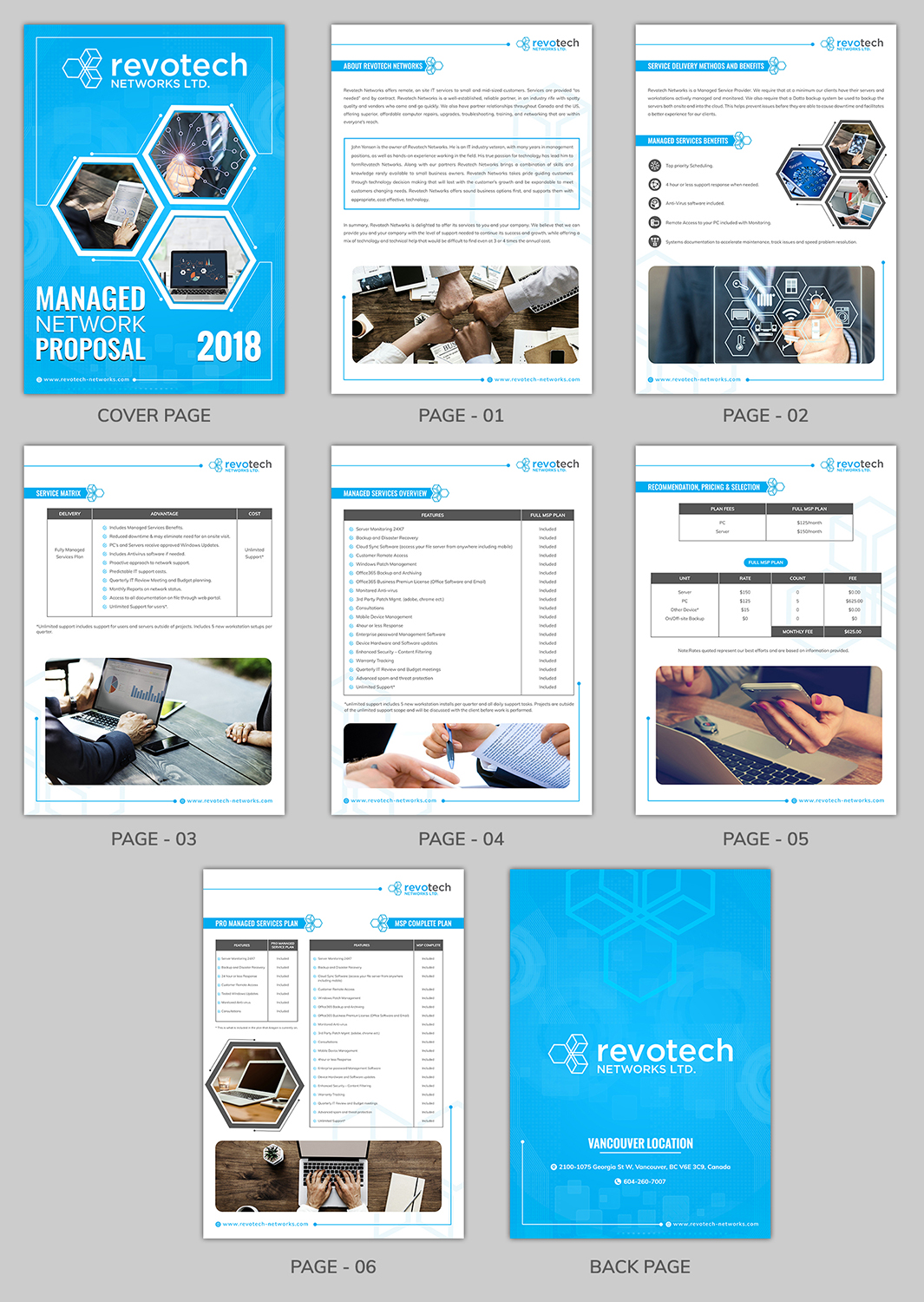 Modern Professional Information Technology Word Template