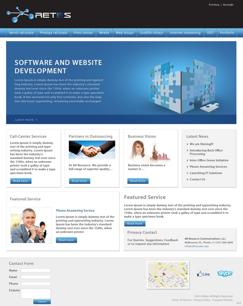 Masculine conservative web design for a company by pb for Masculine web design