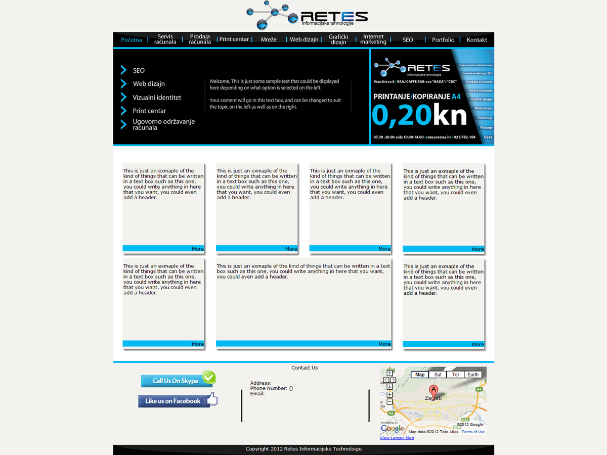 Masculine conservative web design for a company by for Masculine web design