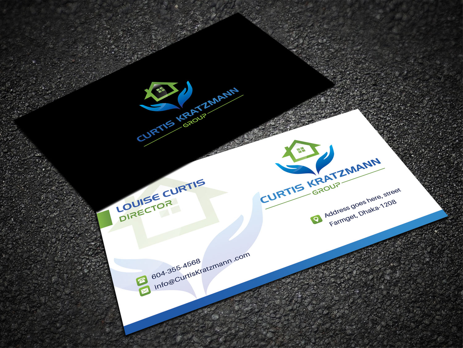Traditional bold real estate business card design for professional business card design by sandaruwan for this project design 17995724 colourmoves