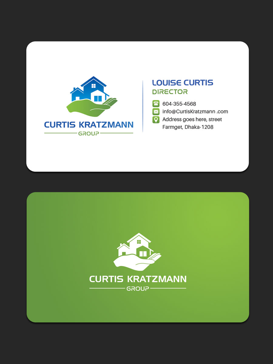 Traditional Bold Real Estate Business Card Design For Professional