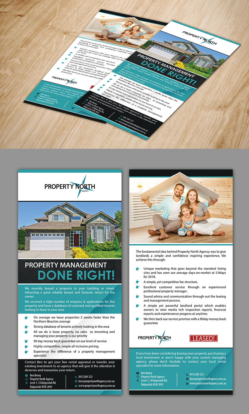 professional upmarket real estate flyer design for a company by