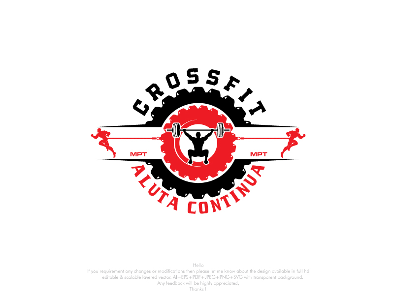 Modern Colorful Logo Design For Crossfit Aluta Continua If Space