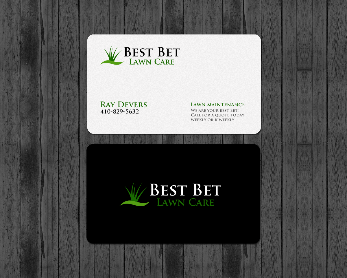 Bold Playful Lawn Care Business Card