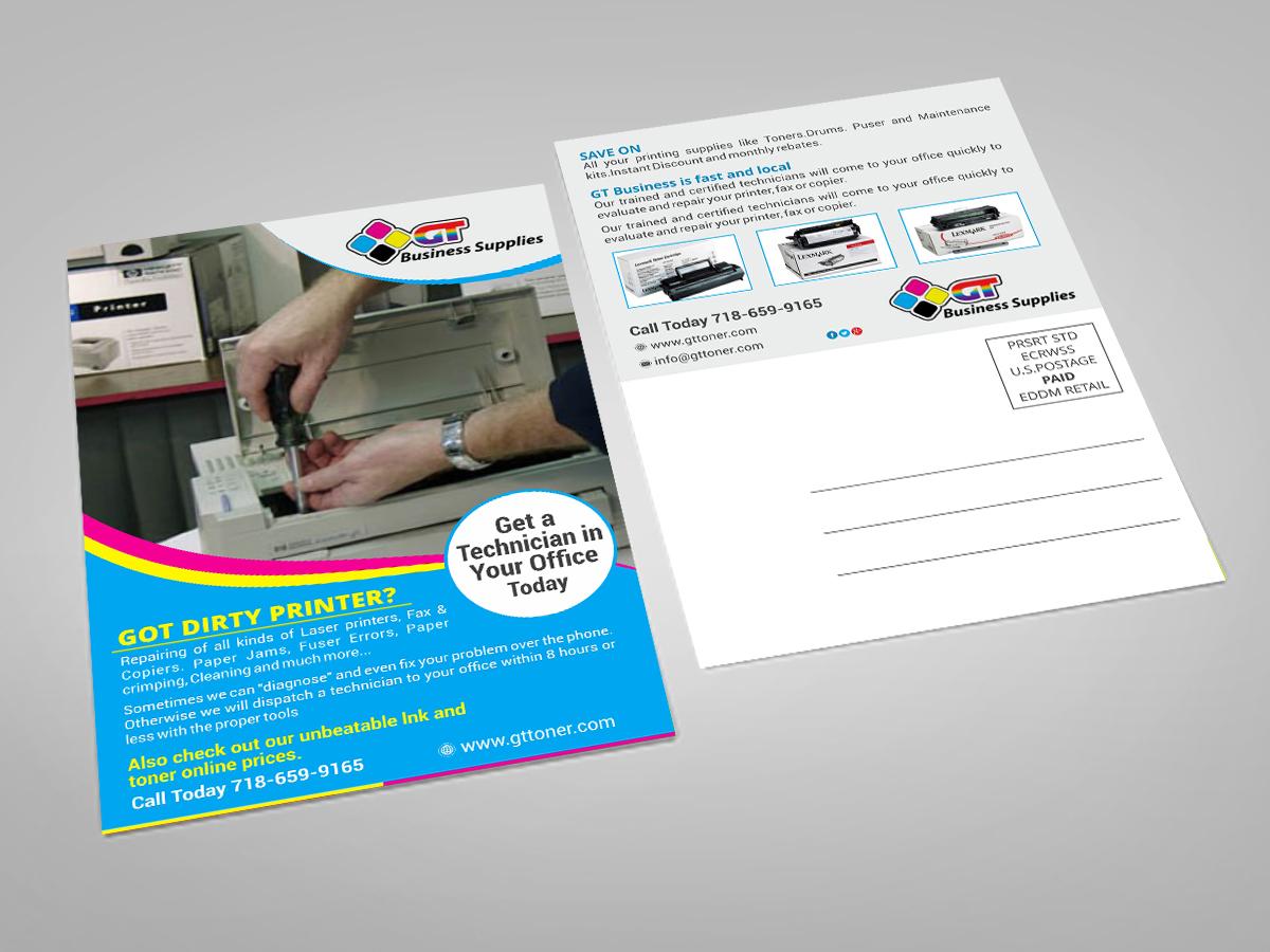 Elegant, Playful, Business Postcard Design for a Company by ESolz ...