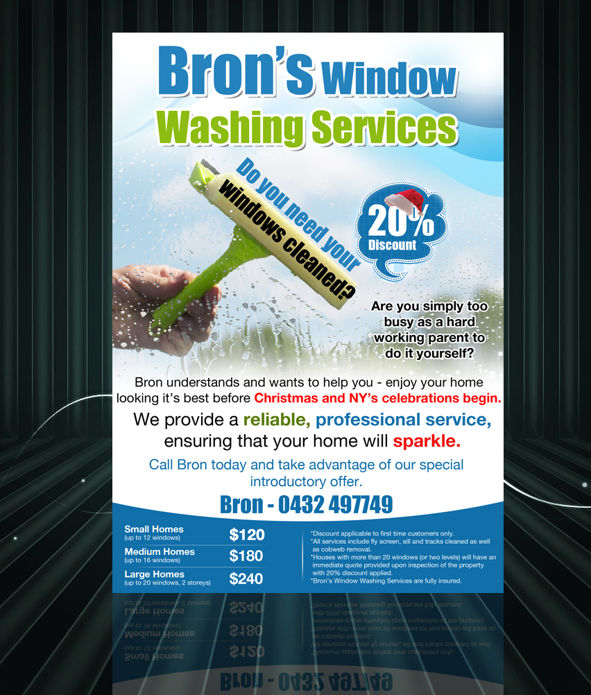 professional flyer designs for a business in flyer design design 2773742 submitted to window cleaning leaflet closed