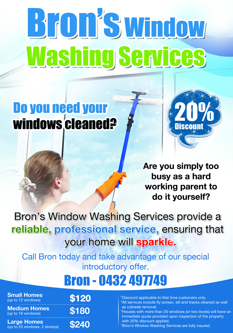 professional flyer designs for a business in flyer design design 2786491 submitted to window cleaning leaflet closed