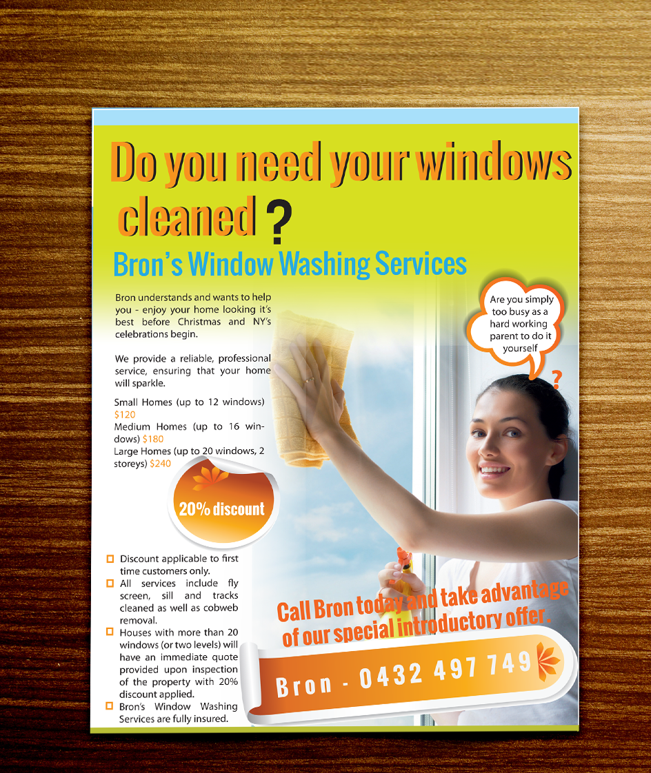 Window cleaning flyer design for a company by doaafatima design flyer design by doaafatima for this project design 2778288 solutioingenieria Choice Image