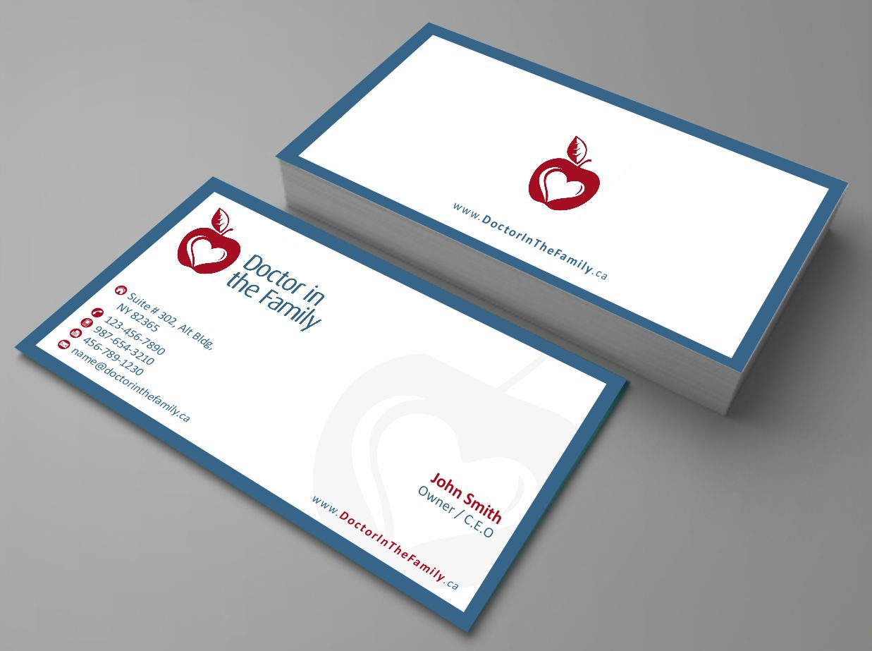 Upmarket serious business card design for crystal moss by zarnab business card design by zarnab for doctor in the family needs business card design magicingreecefo Images
