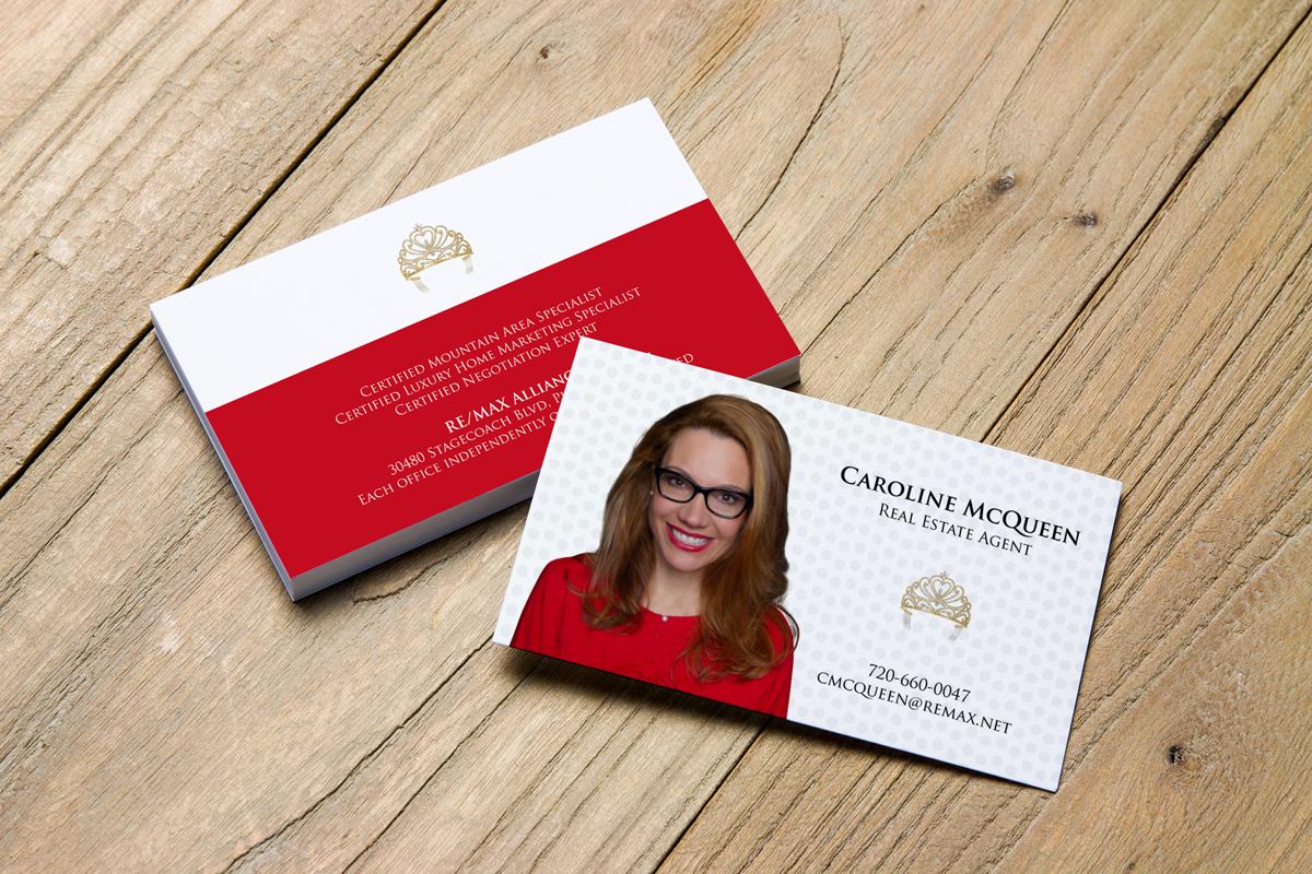 Feminine elegant real estate agent business card design for remax business card design by jk18 for remax alliance design 18015829 reheart Image collections