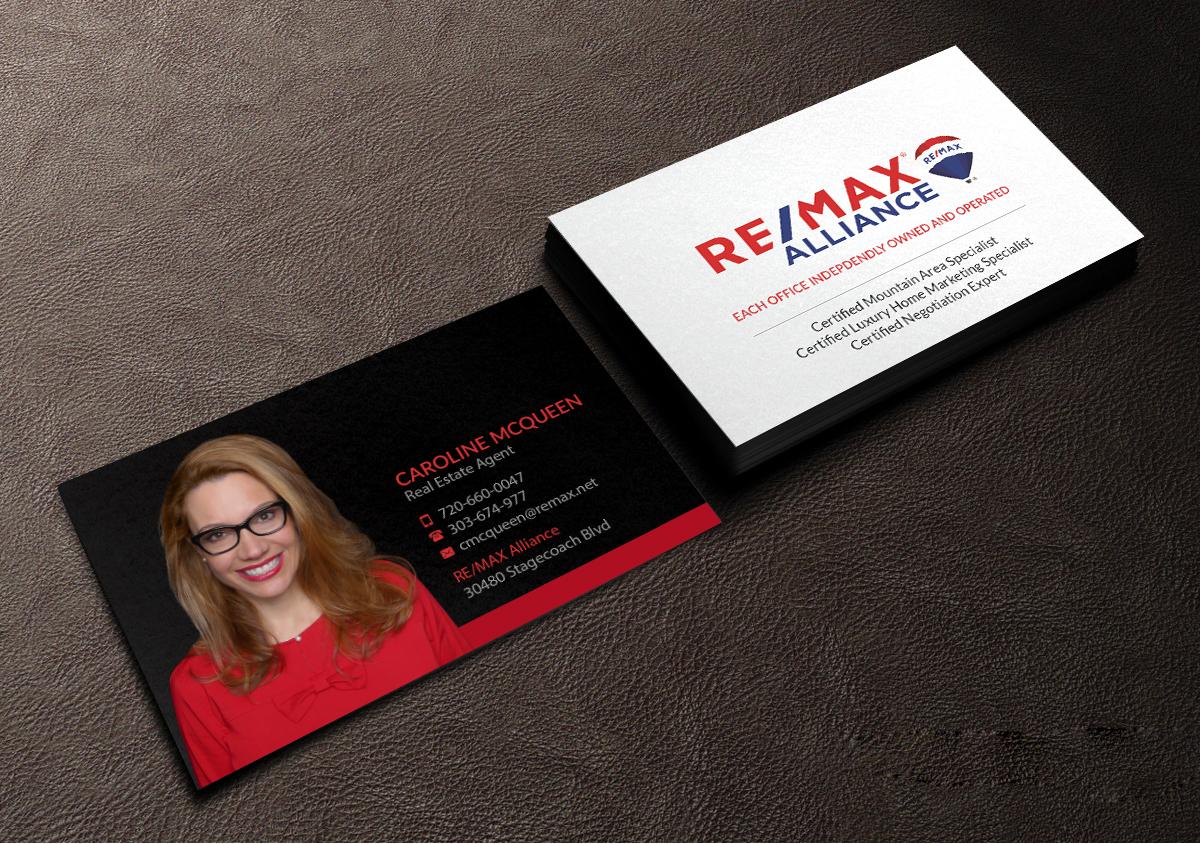 Feminin Elegant Real Estate Agent Visitenkarten Design Für