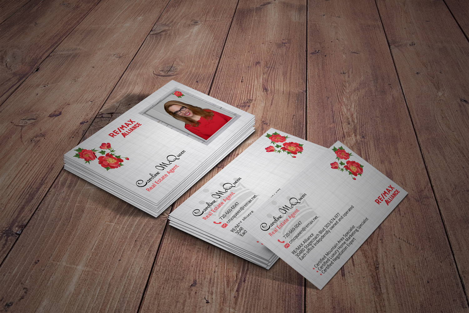 Feminine elegant real estate agent business card design for remax business card design by tanama creations for remax alliance design 18045511 reheart Image collections