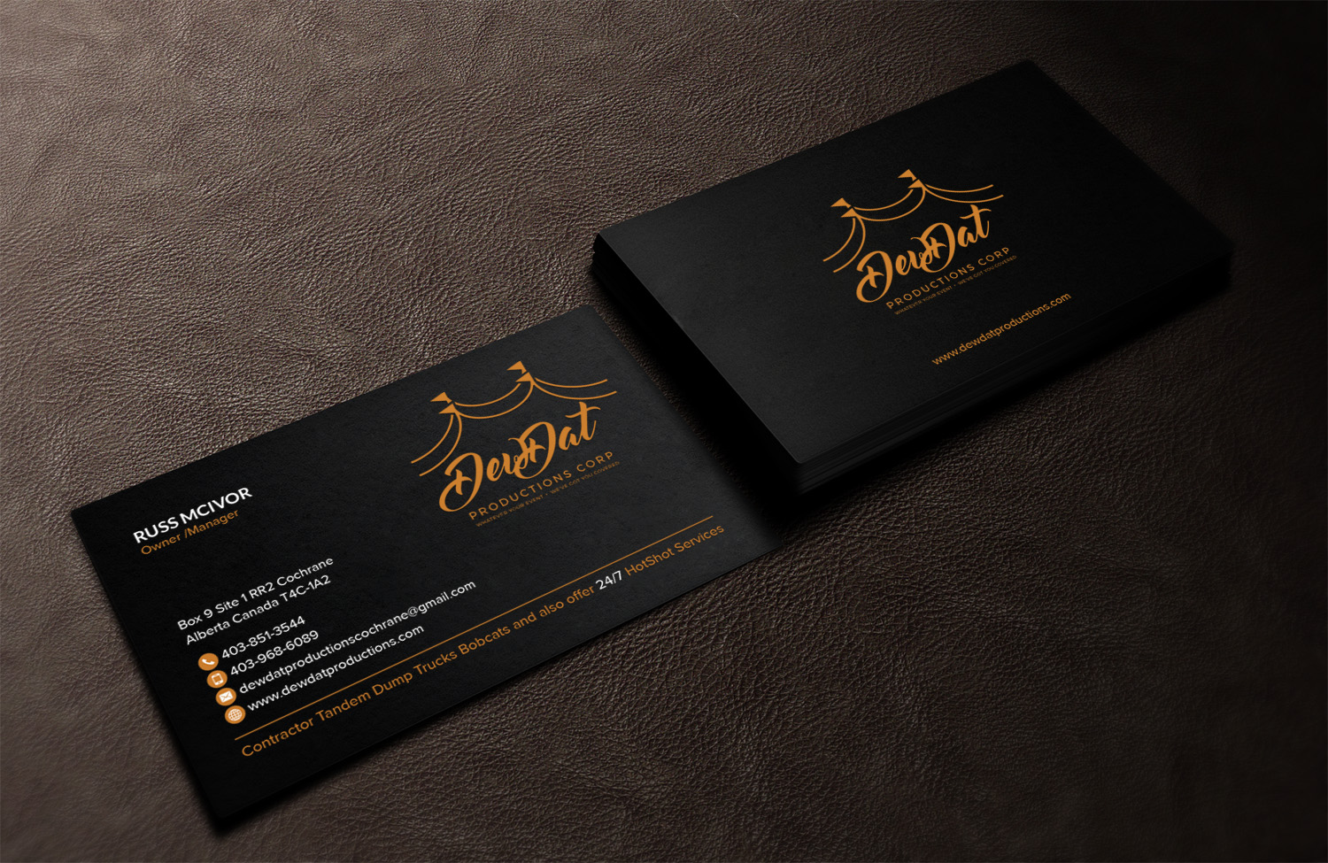 Contractor Business Card Design for a Company by Sandaruwan | Design ...