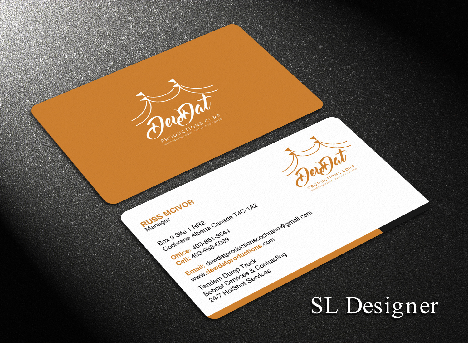 Contractor Business Card Design for a Company by SL Designer