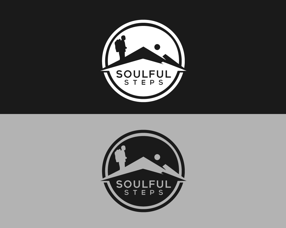 Bold Serious Travel Industry Logo Design For Soulful Steps By
