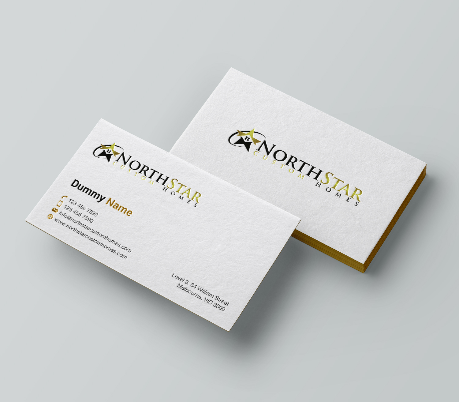 Upmarket elegant business business card design for a company by business card design by mdreyad for this project design 18035386 reheart Image collections