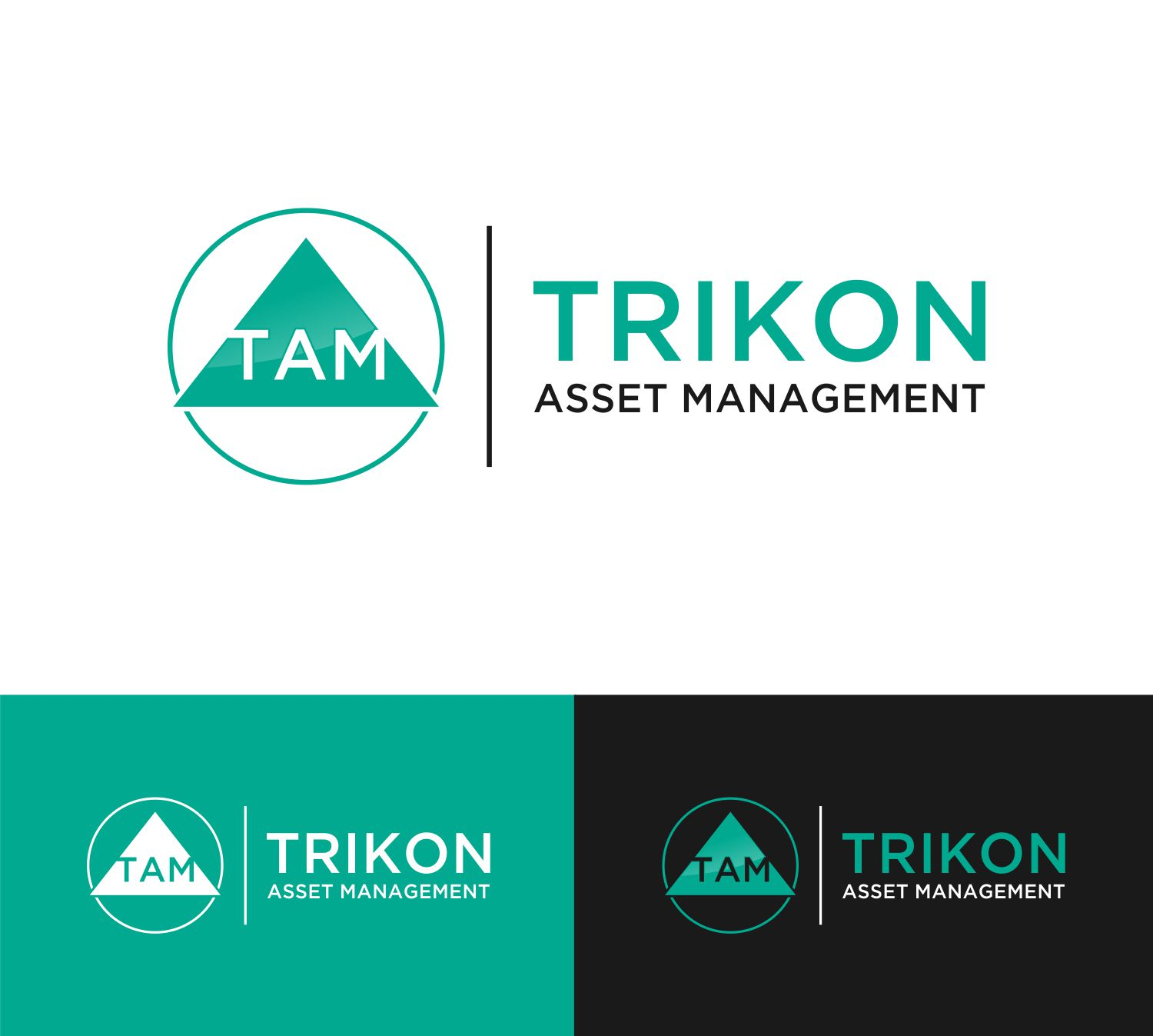 Asset Management Logo Design for Trikon Asset Management by