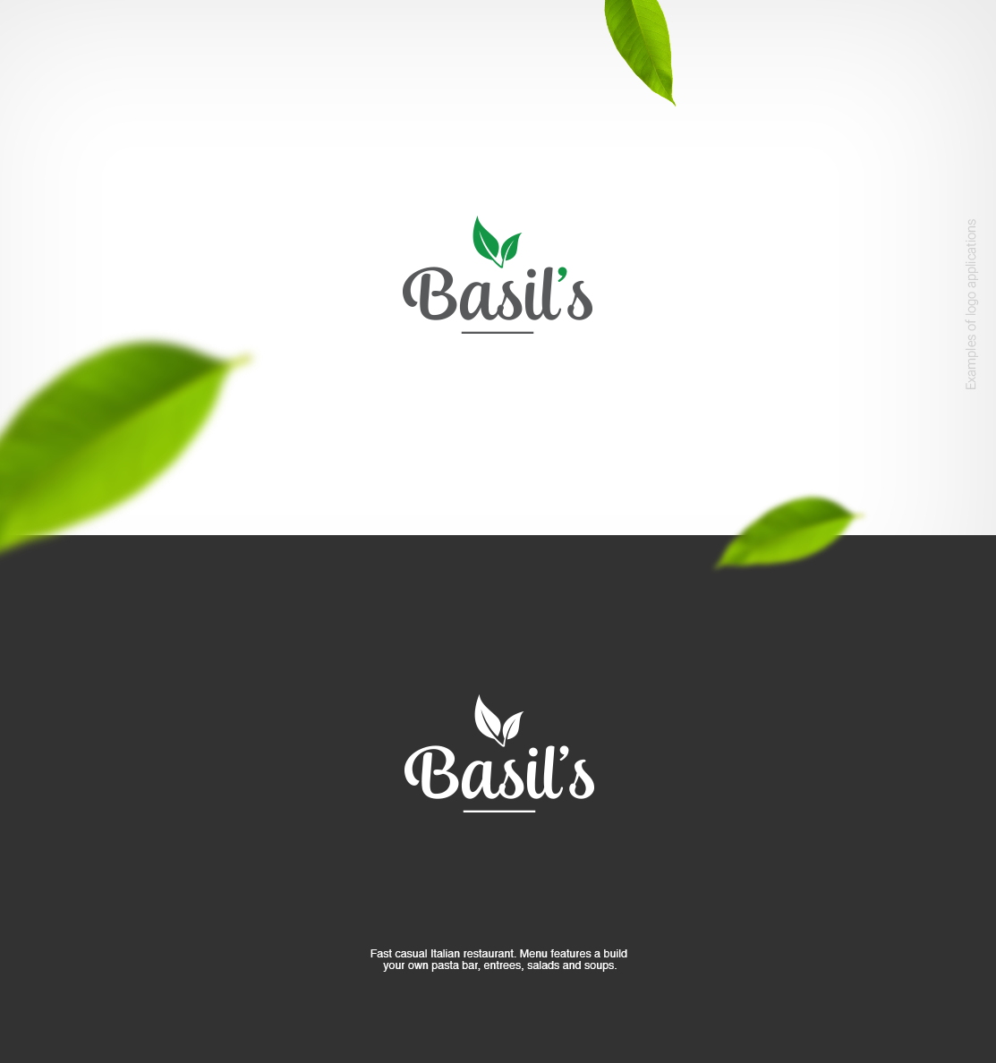 Restaurant Logo Design For Basil S By Felipe Moura Design 18082105