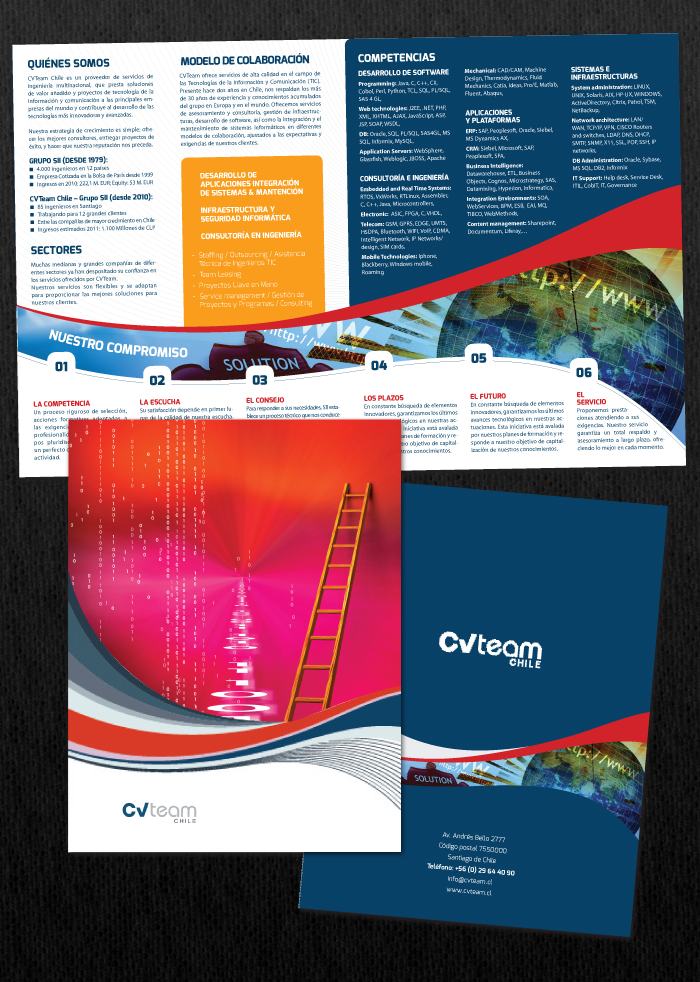 design studio brochure - professional upmarket software brochure design for a
