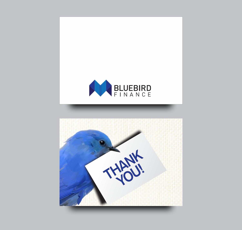 Serious Elegant Mortgage Brokerage Card Design For Bluebird