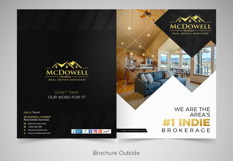 modern feminine real estate brochure design for mcdowell homes