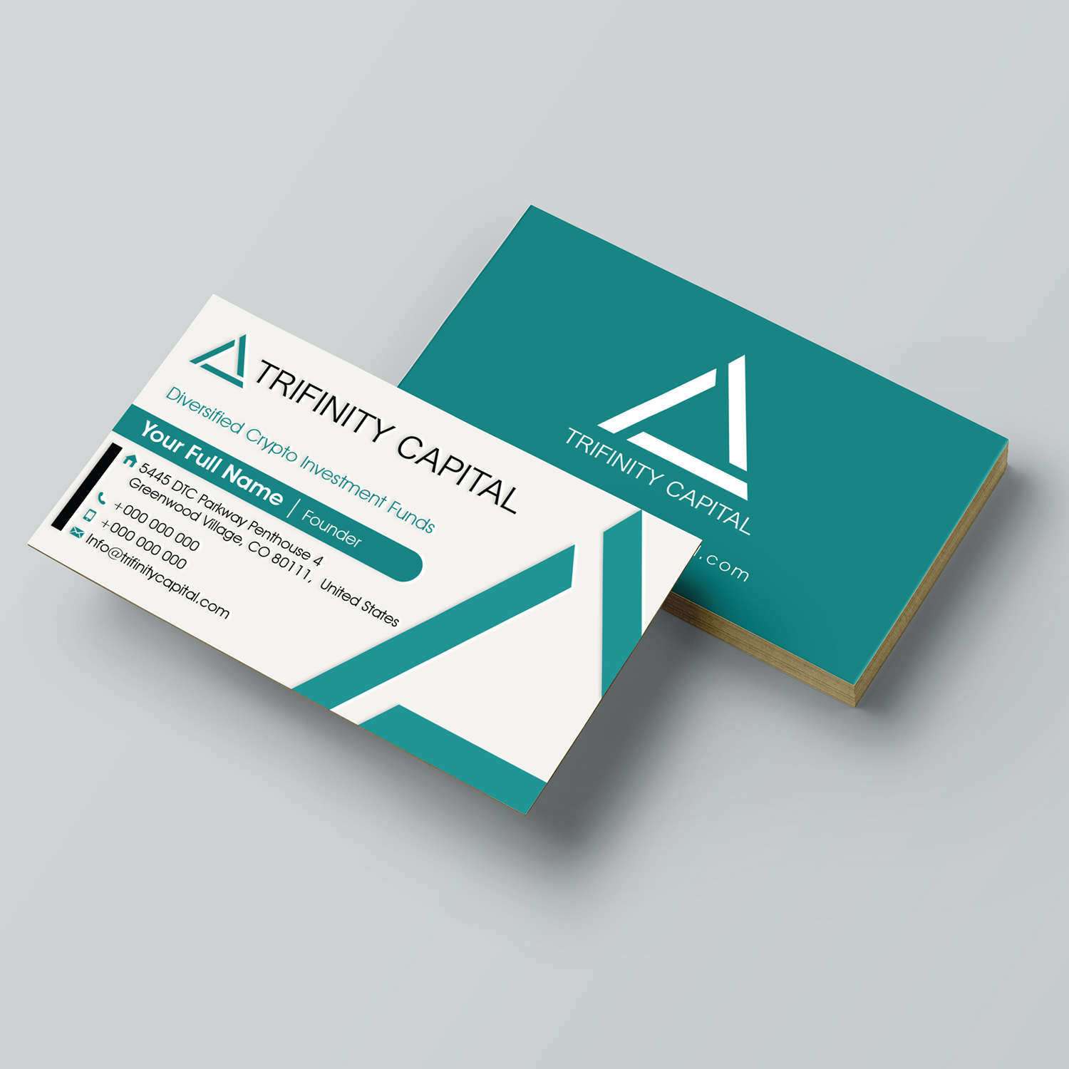 Modern masculine investment business card design for trifinity business card design by gomedia for trifinity capital design 18078359 reheart Image collections