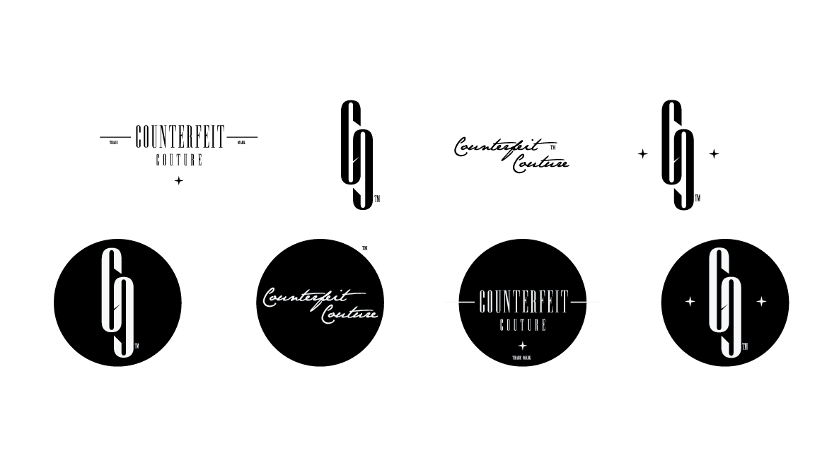 Modern, Bold, Clothing Logo Design for Counterfeit Couture ...  Modern, Bold, C...