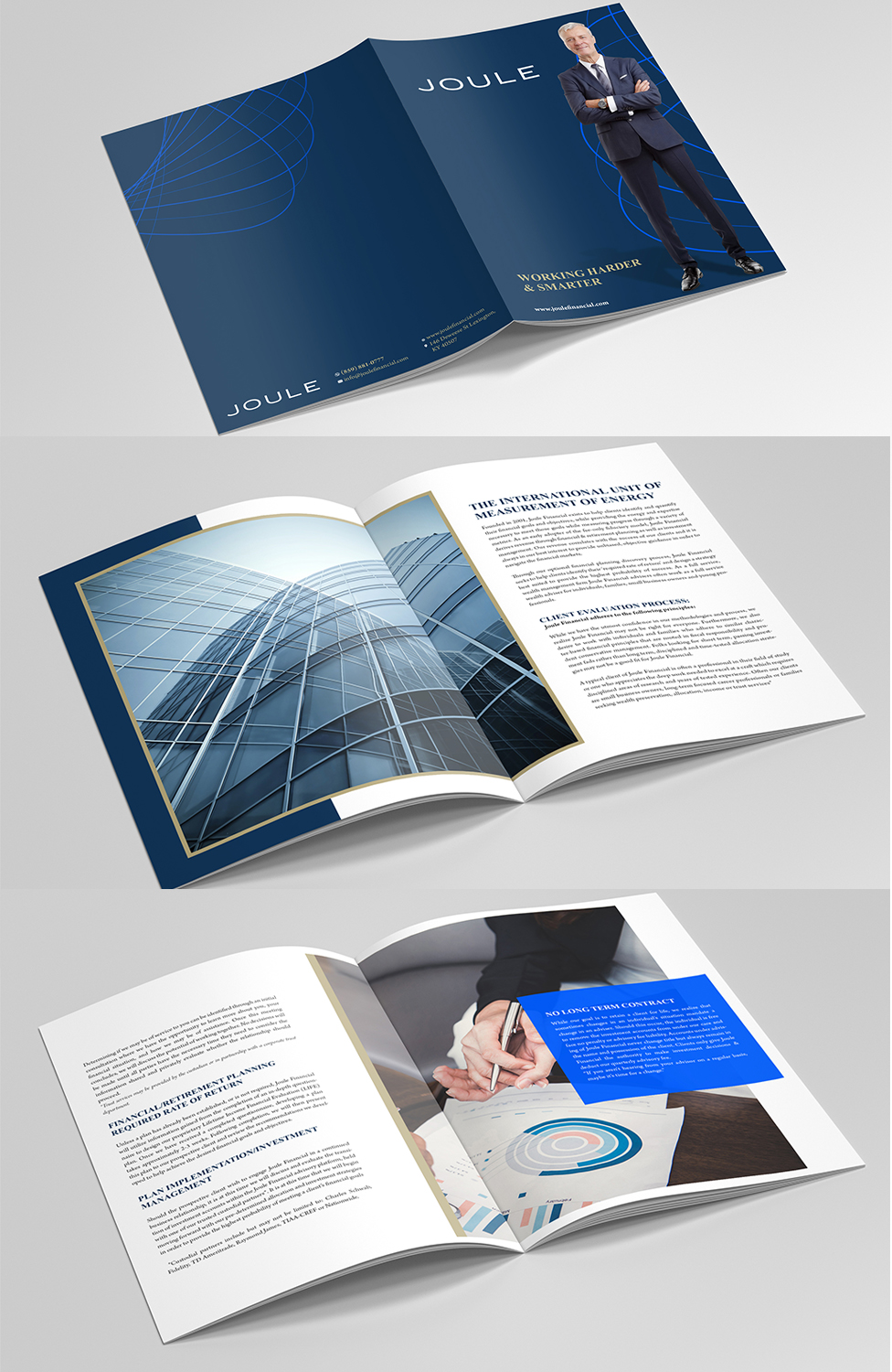 serious professional financial planning brochure design for a