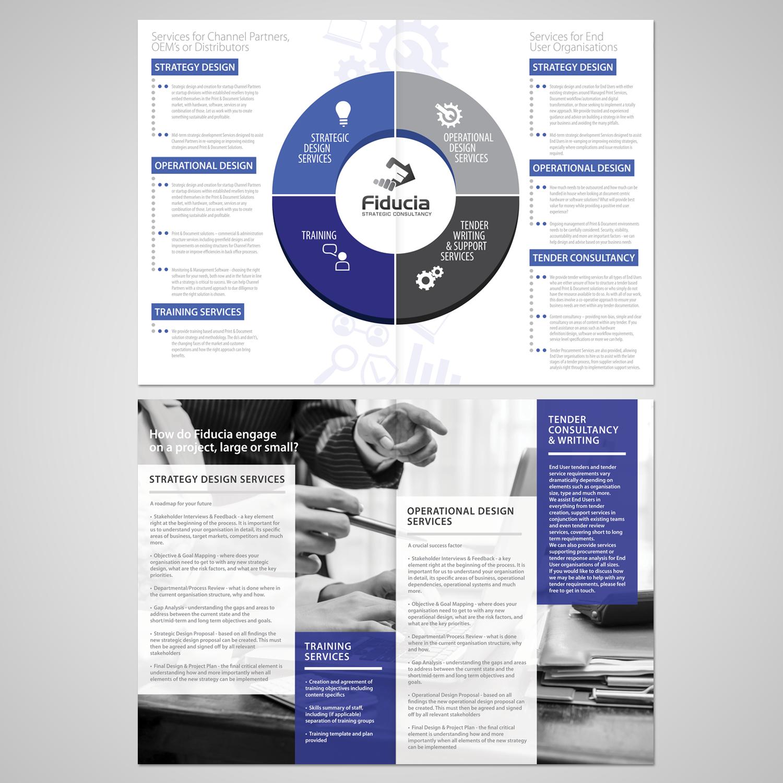 serious modern information technology brochure design for a