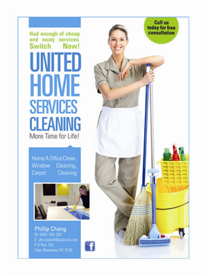 Cleaning Service Flyer Designs