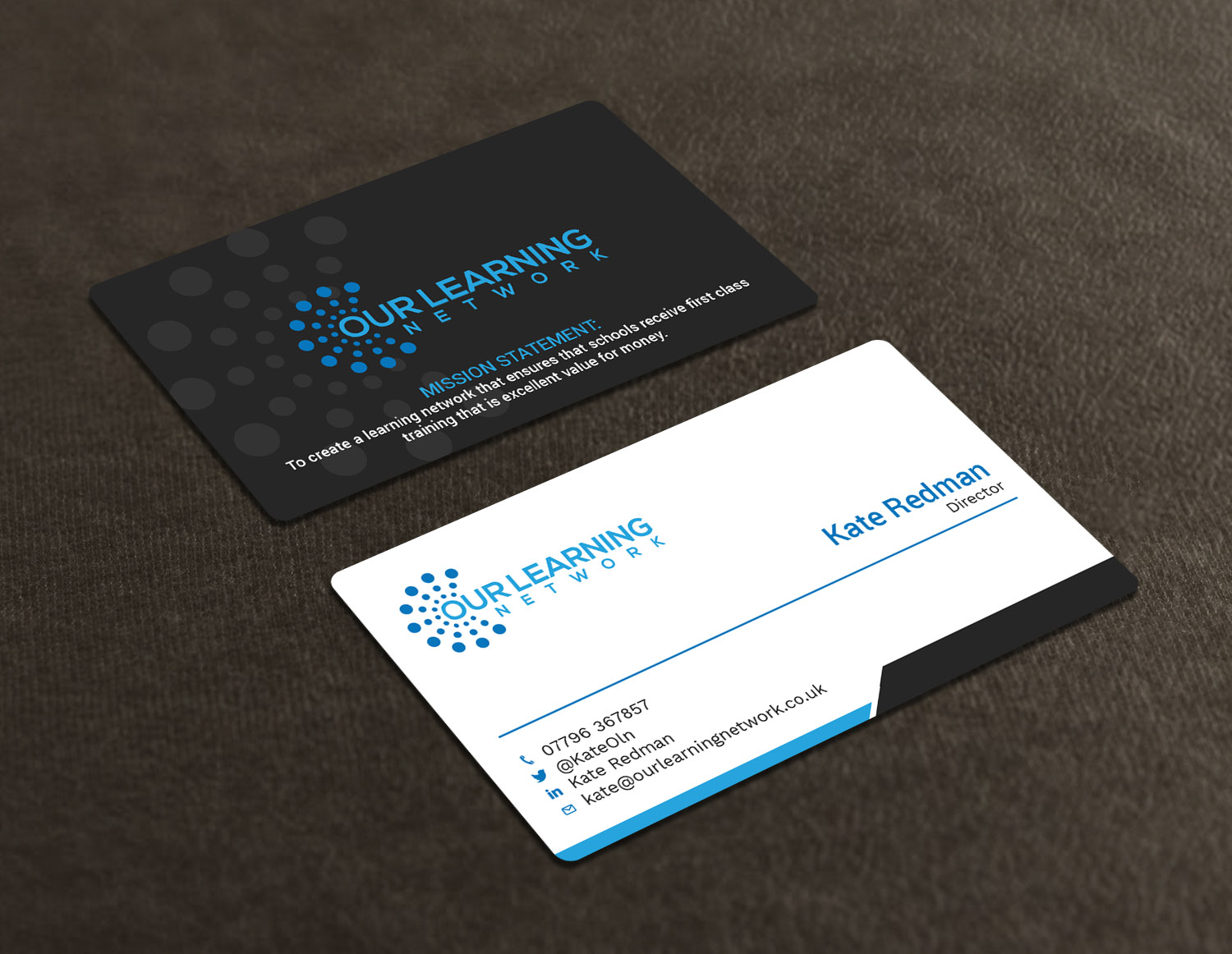 76 Upmarket Business Card Designs | Education Business Card Design ...