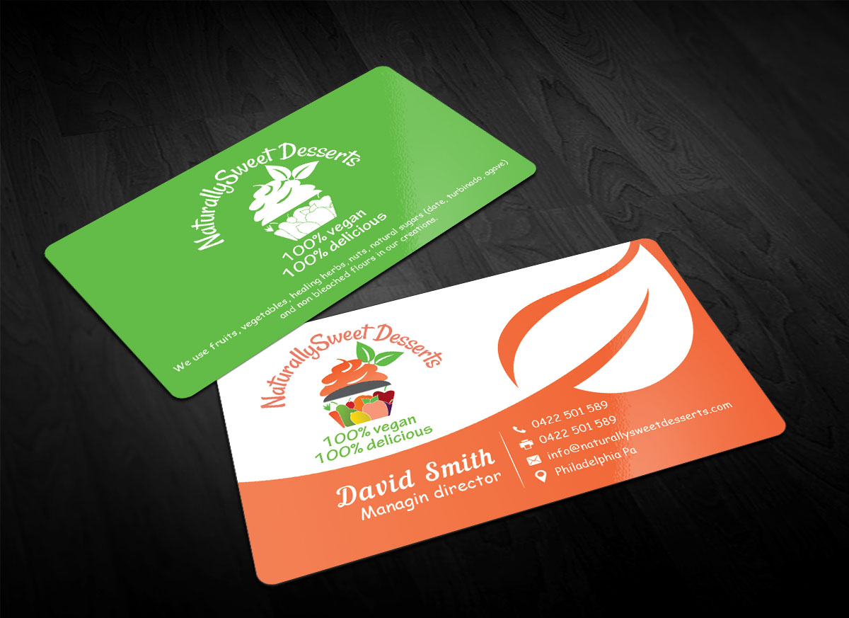 business card design by sandaruwan for naturallysweet desserts design 18091013 - Amazing Business Cards