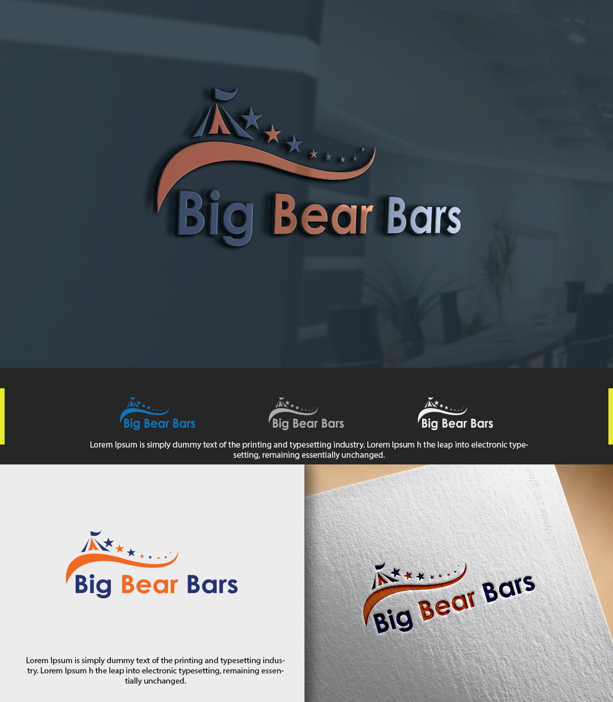 Bold, Playful, Festival Logo Design for Big Bear Bars by