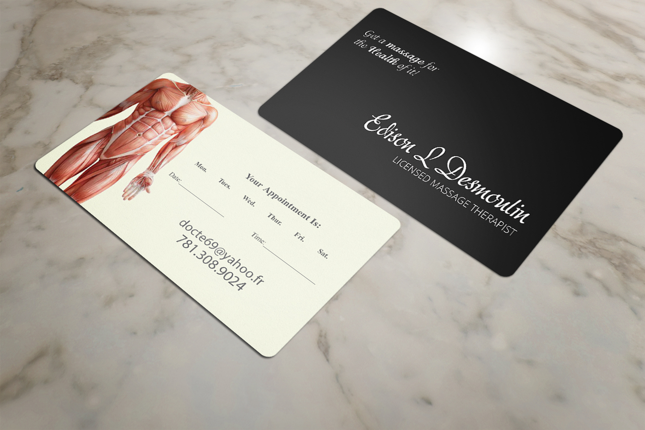 Massage therapist LMT   39 Business Card Designs for a ...