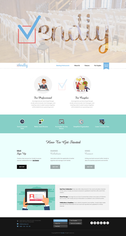 Elegant Feminine Wedding Web Design For Vendly Partners By Pixthemes Design 18195710