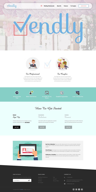 Elegant Feminine Wedding Web Design For Vendly Partners By Pixthemes Design 18296450