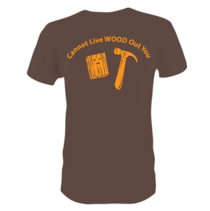 59d5b0741 Clever/fun wood-related t-shirt design | T-shirt Design by