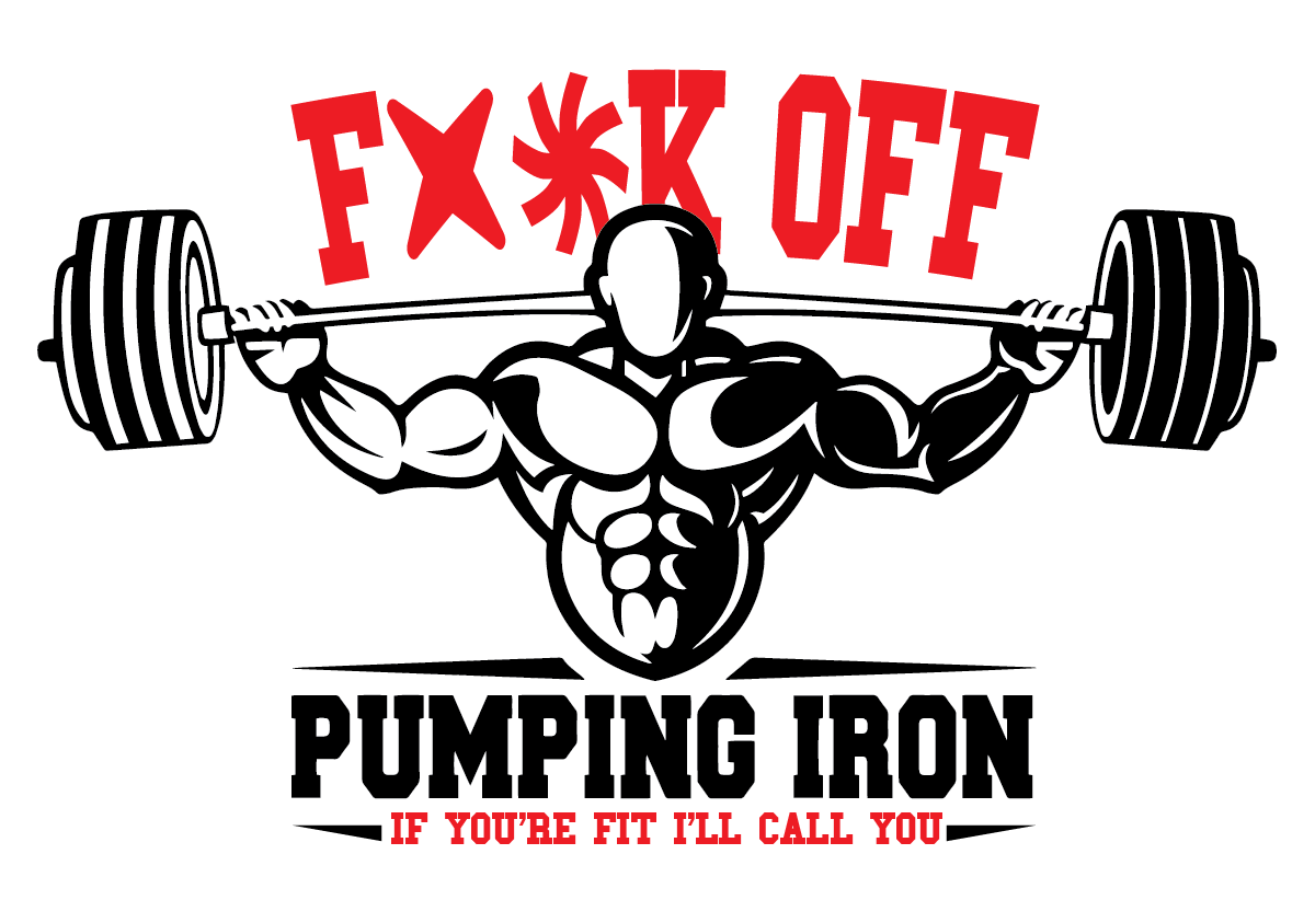 Bold, Serious T-shirt Design for Pumping Iron Muscle Development ... for Bodybuilding Graphic Design  75sfw