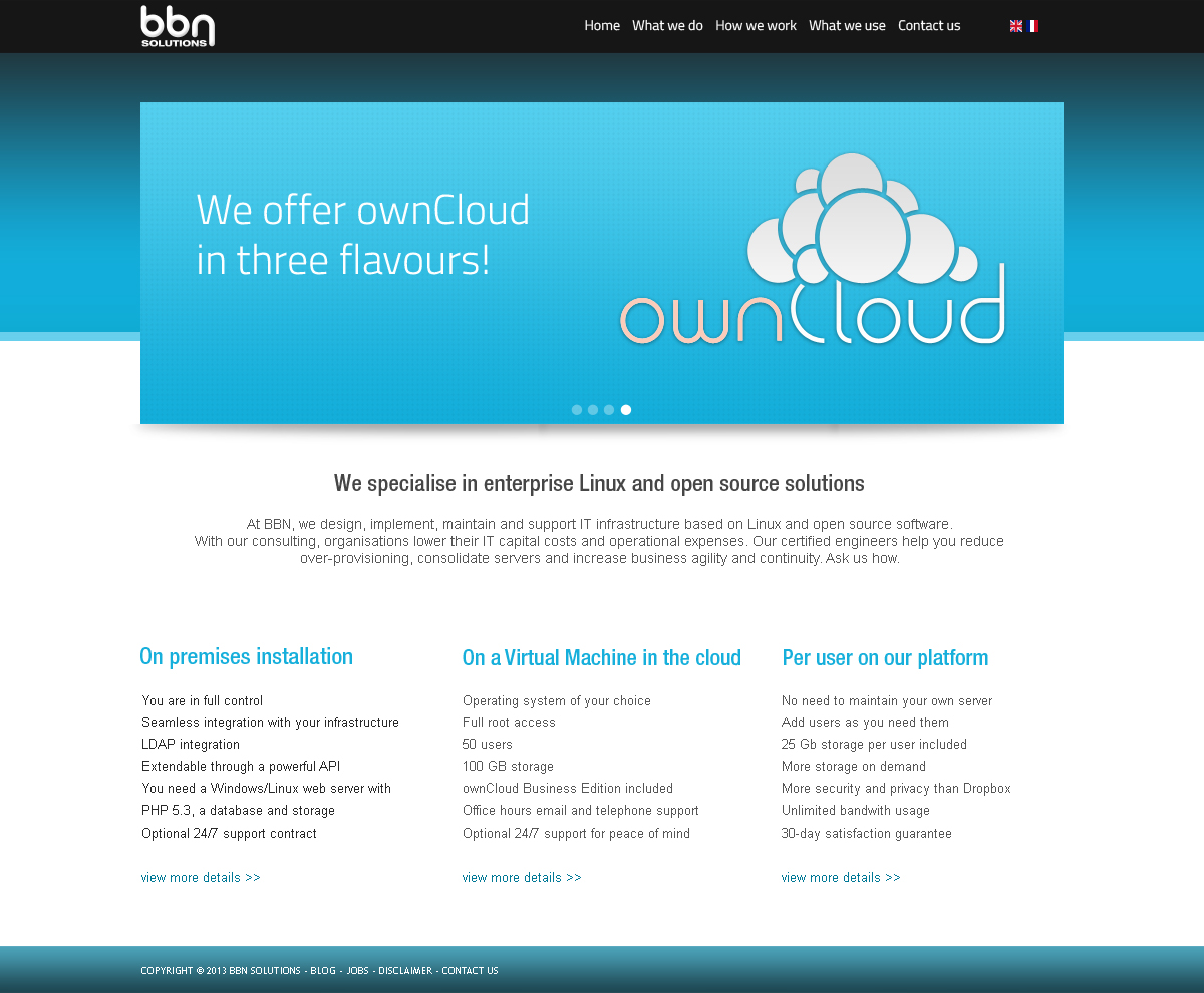 Modern, Upmarket Web Design for BBN Solutions by FOX | Design #2846251