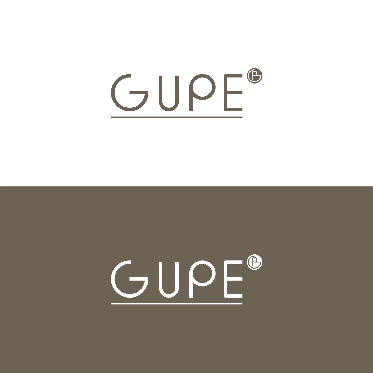 Elegant Modern Furniture Logo Design for Gupe subtitle