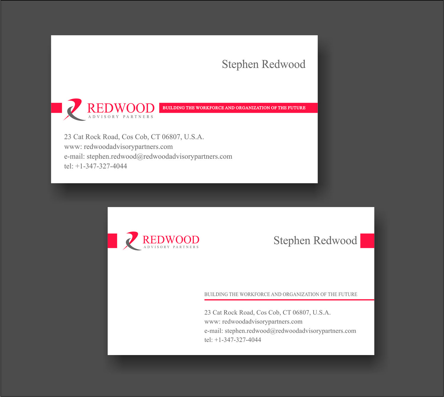 Upmarket serious business business card design for a company by tt business card design by tt 67 for this project design 18214940 colourmoves