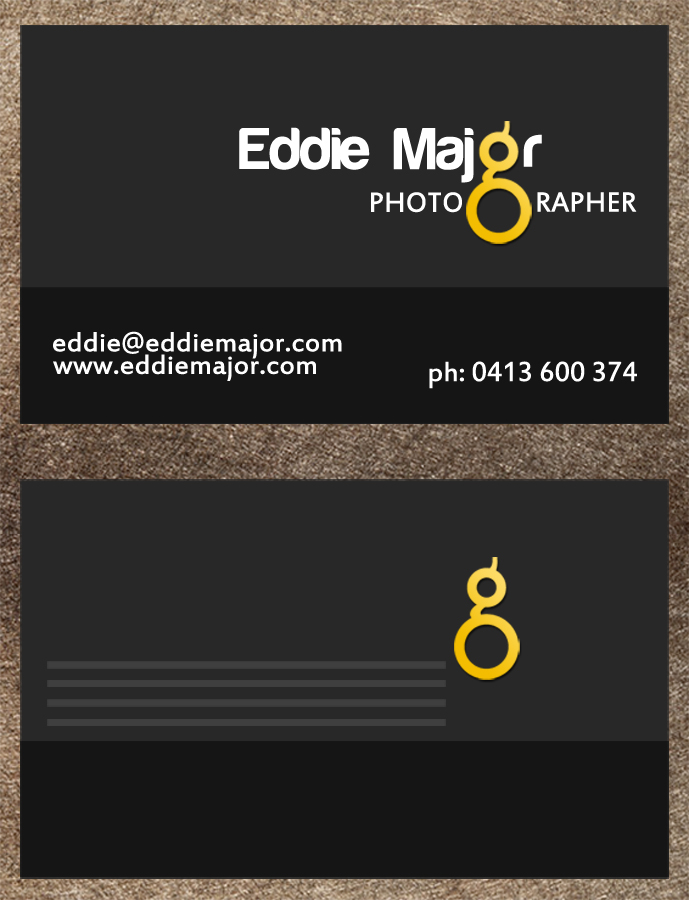masculine professional business card design for a company