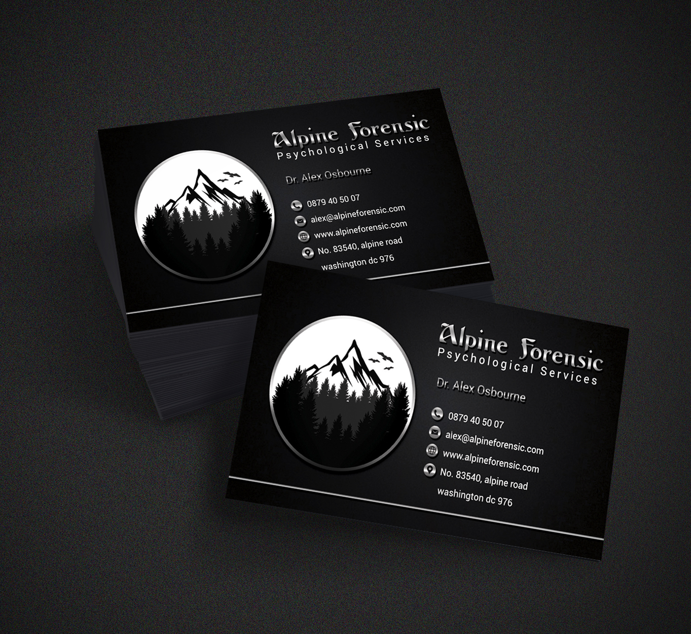Serious professional medical business card design for a company by business card design by hardcore design for this project design 18236727 reheart Gallery